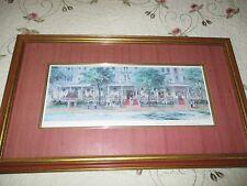 VTG Print- The Red Lion Inn Signed David Zwillinger Matted Framed Daville Art