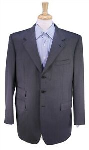 BRIONI-Bespoke-Gray-Black-Twill-Heavy-Wool-3-Btn-Blazer-Jacket-44R