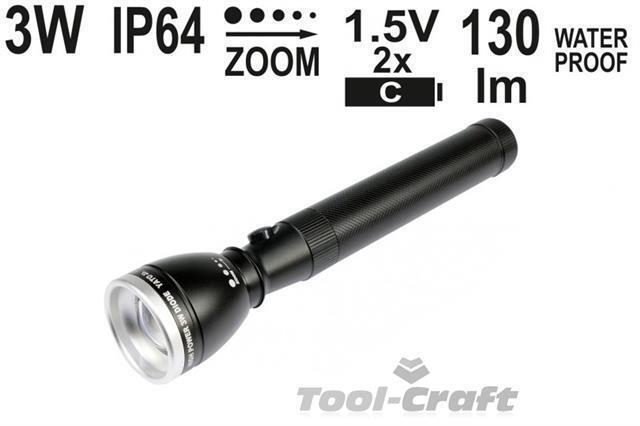 YATO professionnel torche avec zoom, haute puissance CREE 3W diode, zoom, avec 228 mm (yt-08577) 34cf9a