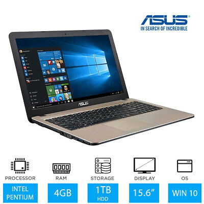 "ASUS VivoBook X540NA 15.6"" Windows 10 Laptop Intel Pentium, 4GB RAM, 1TB HDD"
