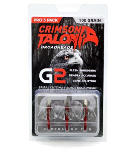 Pack of 3 Crimson Talon Broadheads G2-100-grain