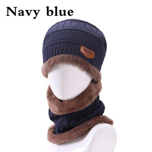 Women//Men Winter Crochet Wool Knit Skull Hat Ski Cap Beanie Baggy Scarf Outdoor