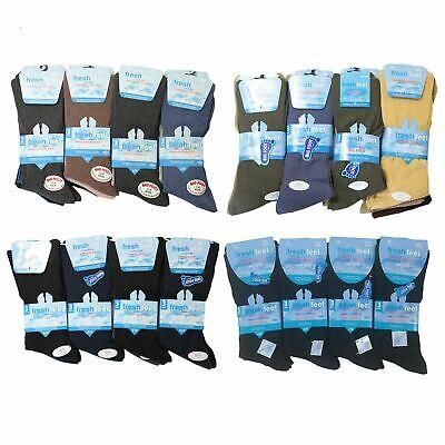 Costume Homme Chaussettes 100/% Coton Riche Non Élastique Chaussettes Anti Bacterial Diabetic Socks