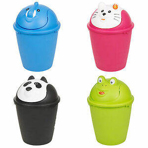 Image Is Loading 6 Litre Animal Waste Dustbin Plastic Trash Bin