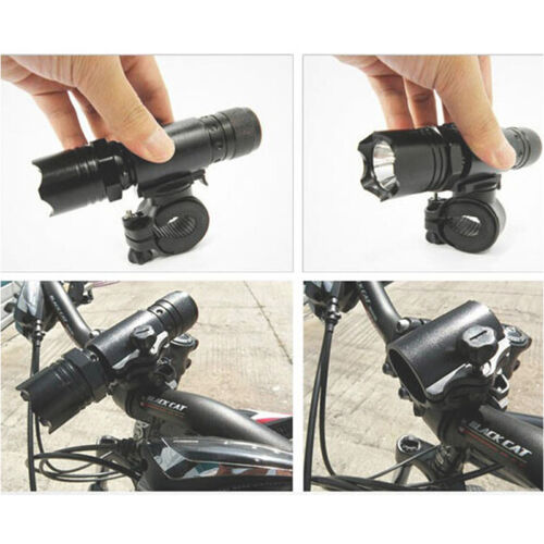 360 Rotation Cycling Bicycle Bike Flashlight LED Torch Bracket Mount Holder  EW