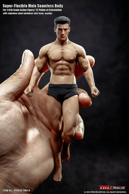 TBLeague 1/12 Fitness Flexible Male Seamless Strong Muscle Body Action Figure