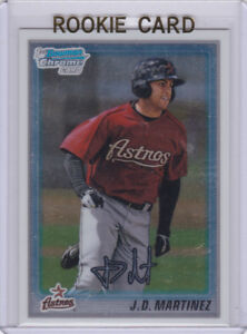 Details About Jd Martinez Rookie Card 2010 Bowman Chrome Rc Astros Jd Baseball Boston Red Sox