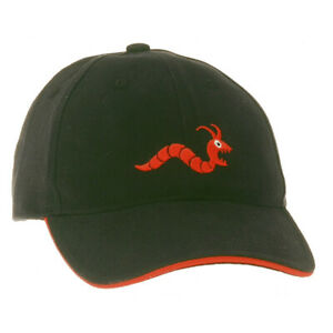 Details about *NEW* WOODWORM CRICKET GOLF LEISURE CAP, One Size, Black/Red