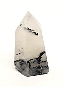 5Pcs Rough Natural Black Tourmaline Quartz Rutilated Crystal Point Wand Healing