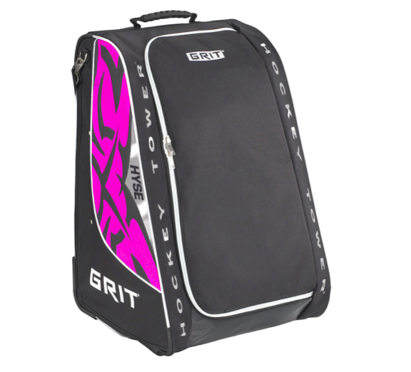 New Grit Hyse Ice Hockey Wheeled Tower Stand Bag 30 Diva Pink Junior Equipment