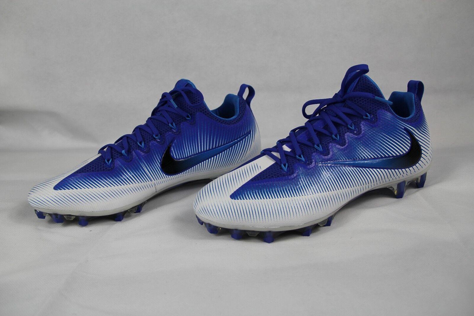 d0d922477 NIKE VAPOR UNTOUCHABLE PRO blueee White Men s Football Cleats 833385-400  Size 14