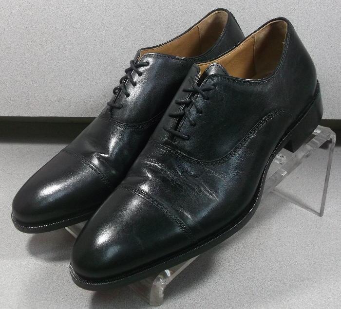 152481 PF50 Men's Shoes Size 11.5 M Black Leather Lace Up Johnston & Murphy