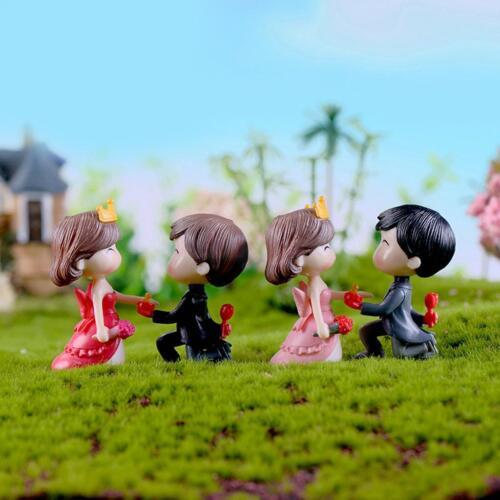2 Pcs Micro Landscape Decoration Wedding Couples Miniature Fairy Garden