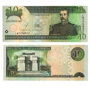 / 2814588## Good Dominikanische Republik 10 Pesos 2002 Pick 168b Unc Papiergeld Welt Münzen