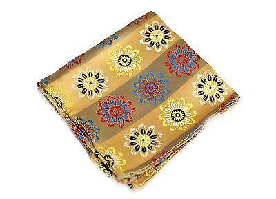 Lord R Colton Masterworks Pocket Square $75 Retail New Villarrica Gold Silk