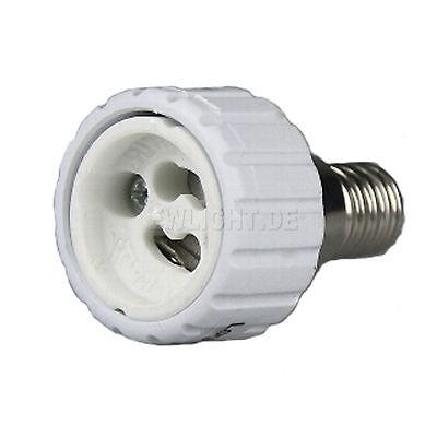 4 Sockel Adapter von E14 auf GU10 Lichtadapter Adaptersockel Lampen Lampensockel