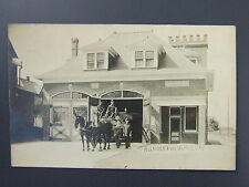 Liberty Fire Station 2 Horse Drawn Engine Alliance OH Ohio Real Photo RPPC c1910