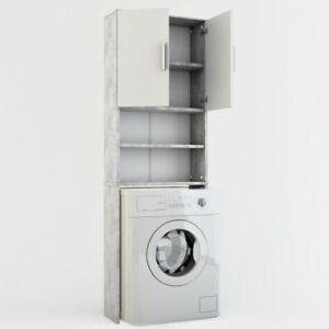 Mobile bagno da incasso per lavatrice armadio bagno pensile grigio ebay - Mobile pensile bagno ...
