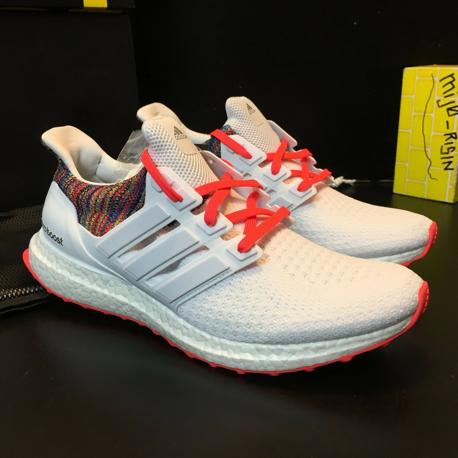 Brand New Adidas Ultra Boost Boost Boost 2.0 MiAdidas Rainbow   White Men Size 9 e696e1