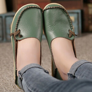 Casual-Women-039-s-Driving-Flats-Oxford-Loafers-Peas-Leather-Single-shoes-Moccasin
