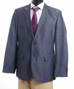 HUGO BOSS Sakko Jacket The Keys12 Gr.52 blau Fischgrät Einreiher 2-Knopf -S352