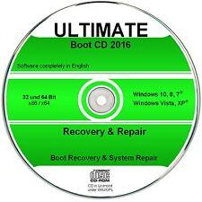 Recovery & Repair CD DVD für Windows 10 - 8 - Win 7 - XP - 32 & 64 bit 2016