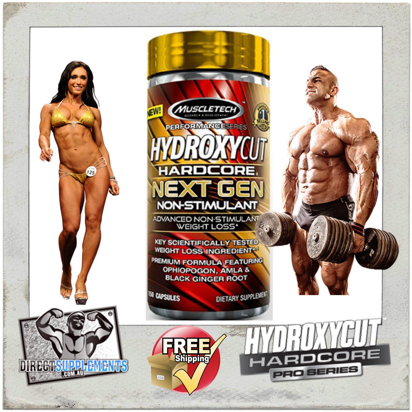 Details About Hydroxycut Hardcore Next Gen Non Stim 150 Capsules Fat Burner Hydroxy Cut