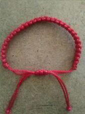 2 Red Macrame Adjustable Handmade Friendship Erik's Bracelets Matching Pair 💗