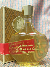 Vintage 1970s !! Farouche LARGE 3.3 oz 100 ml Eau de Toilette LALIQUE Nina Ricci