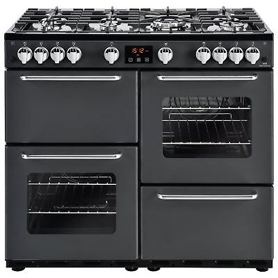 New World Traditional Free Standing 100cm Gas Range Cooker Charcoal - Argos eBay