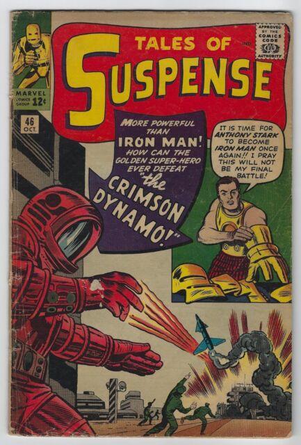 Tales of Suspense #46 (1963, Marvel) 1st App Crimson Dynamo, Kirby, Lee, G+/VG