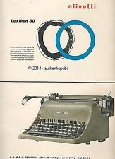 PUBLICITE OLIVETTI MACHINE A ECRIRE LEXIKON 80 DE 1952 FRENCH AD ADVERT PUB