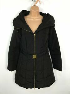 WOMENS-BHS-AUTHENTIC-BLACK-ZIP-UP-PADDED-PUFFER-WINTER-COAT-JACKET-SIZE-UK-12
