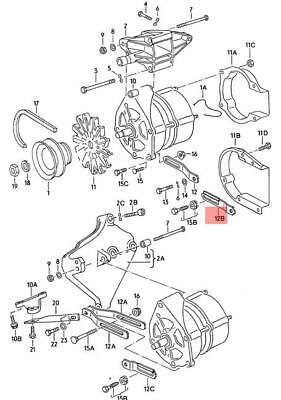 Genuine Volkswagen Angled Bracket NOS Audi 100 quattro 200 4000 5000 034903247D