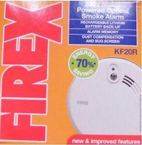 Firex-Kidde-kf2r-kf20r-OTTICO-ALLARME-INCENDIO-FUMO-litio-batteria-Mains
