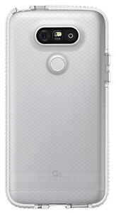Tech21 CLEAR/WHITE EVO CHECK ANTI-SHOCK CASE TPU COVER FOR LG G5