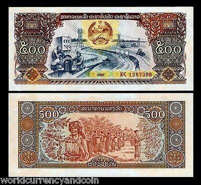 LAO LAOS 500 KIP 1988 P 31 UNC LOT 100 PCS 1 BUNDLE