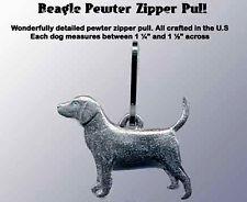 Pewter Dog Zipper Pull Beagle