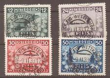 AUSTRIA SG699/702 1933 INT SKI CHAMPIONSHIP FINE USED