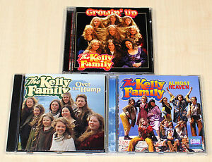 3-CD-SAMMLUNG-THE-KELLY-FAMILY-OVER-THE-HUMP-ALMOST-HEAVEN-GROWIN-UP