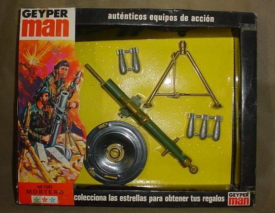 Vintage - mib gi joe geyper mann sotw deutschen mortero mörtel geyperman mip - 1975