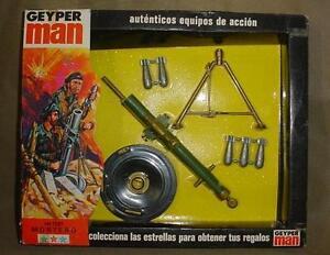 Vintage Mib Gi Joe Geyper Homme Sotw Mortier allemand Geyperman Mip 1975