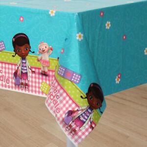Details About Disney Doc Mcstuffins Plastic Table Cover Plastic Tablecloth Party Supplies 7 9c