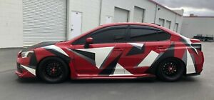 Abstract Urban Camo Full Car Vinyl Wrap Kit 001 3 Color Custom Design 3m Avery Ebay