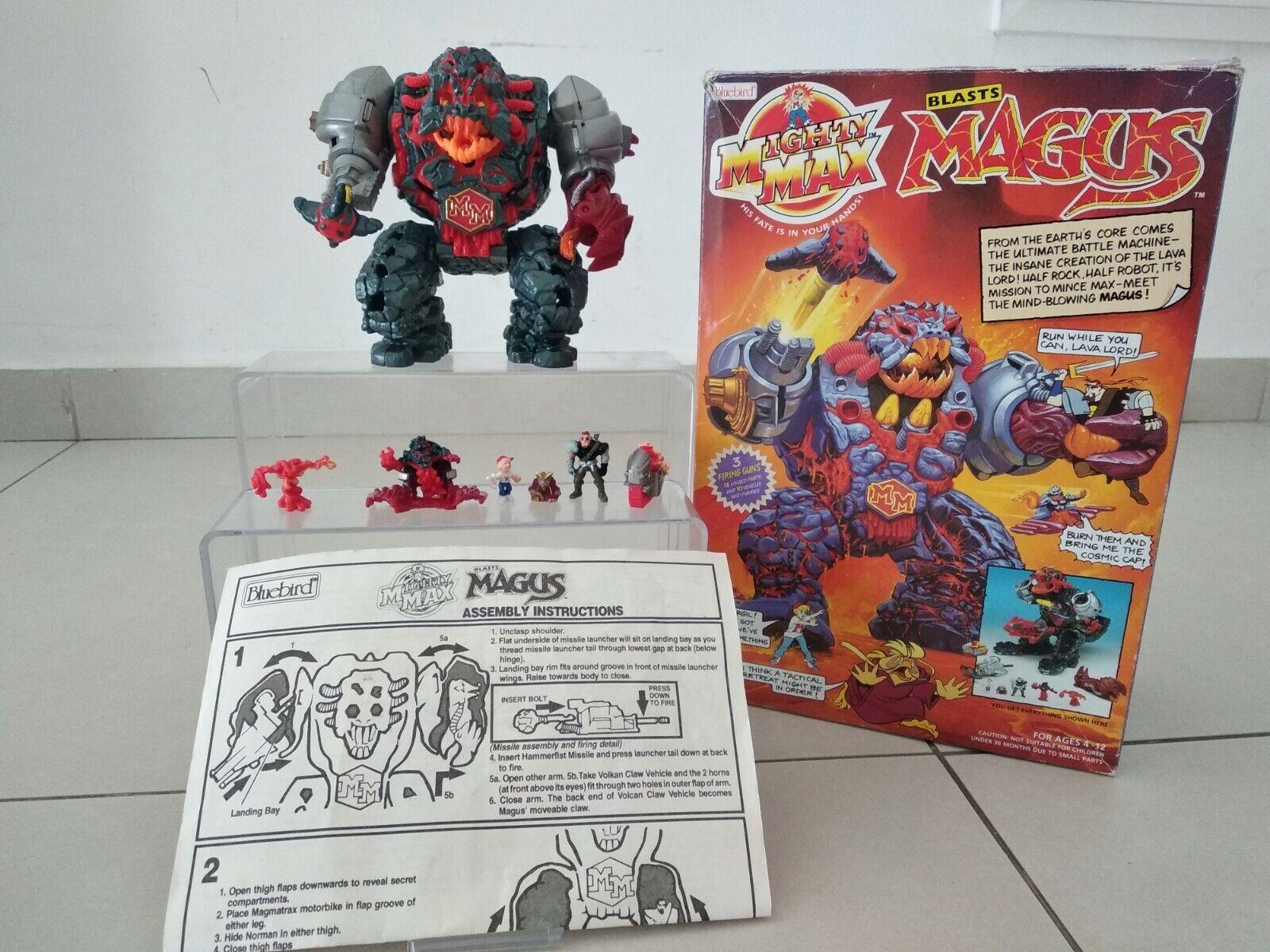 Mighty Max Blasts Magus Blaubird 1993 Vintage Boxed Toy Kids Retro Collectible