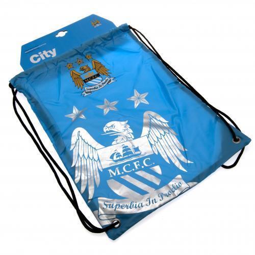 FOOTBALL  SCHOOL SPORTS GYM PE KIT DRAWSTRING SWIM BAG FP MANCHESTER CITY FC