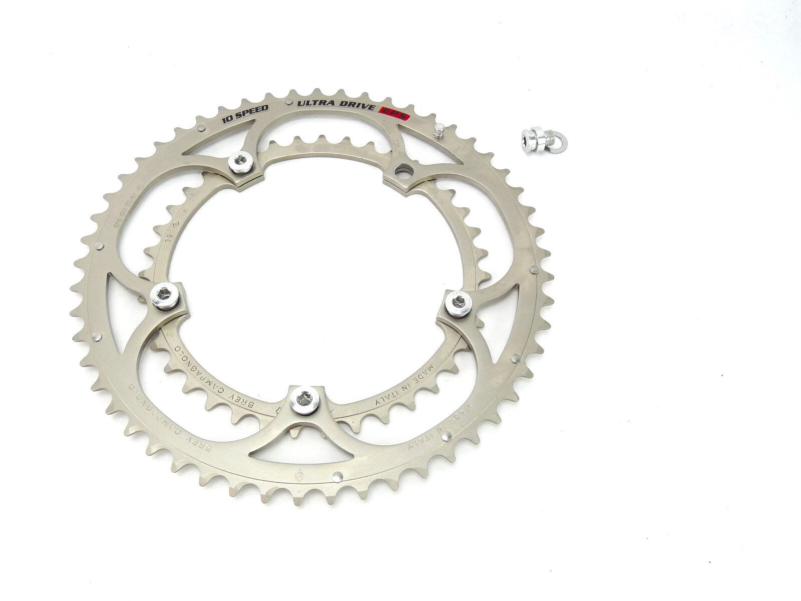 Campagnolo Record  10 speed Chainring set 53 39T Ultra Drive EPS W BOLTS NOS  discount