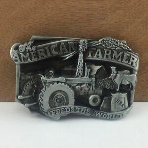 56aa27cb26b American Farmer Country Steel Metal Belt Buckle Vintage Mens Boys ...