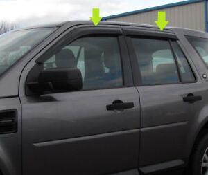 window wind/rain deflector tinted smoked 4 door kit land rover