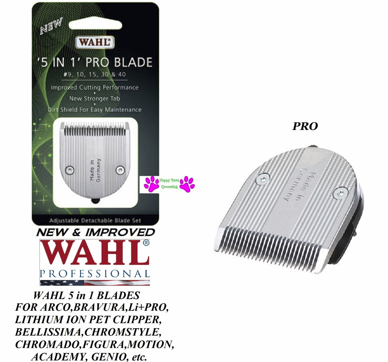 2-NEW&IMPROVED Wahl FINE PRO SERIES 5 in 1 Blade for FIGURA,Bravura Lithium,ARCO